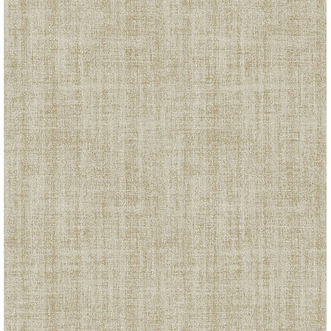 Ramie Linen Gold Peel and Stick Wallpaper