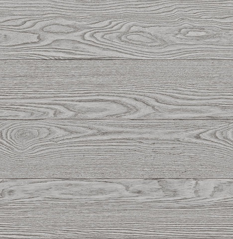 Grey Salvaged Wood Peel and Stick Wallpaper