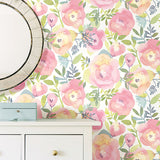 Peachy Keen – Pink Peel and Stick Wallpaper