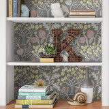 Groovy Garden – Grey Peel and Stick Wallpaper