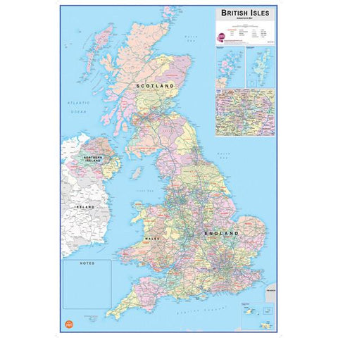 British Isles Dry Erase Map
