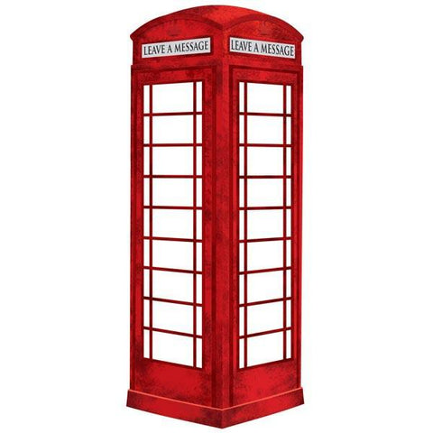 London Phone Booth Wall Stickers