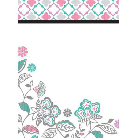 Floral Medley Dry-Erase Peel and Stick Board