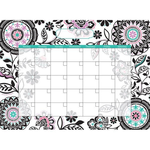 Floral Medley Monthly Calendar Wall Stickers