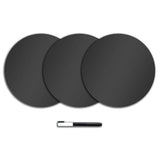 Charcoal Black Dry Erase Wall Dot Stickers