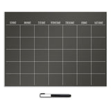 Black Dry Erase Calendar Wall Stickers
