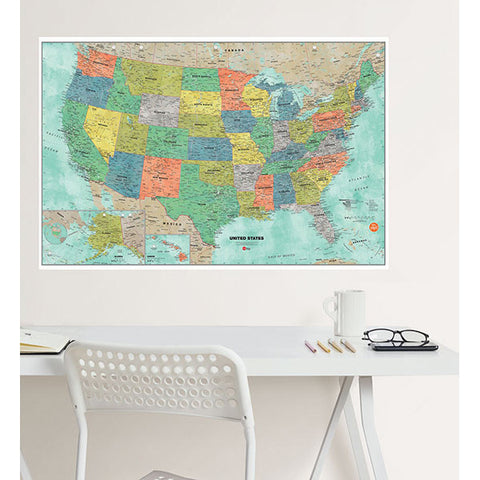 Aquarelle US Dry Erase Map