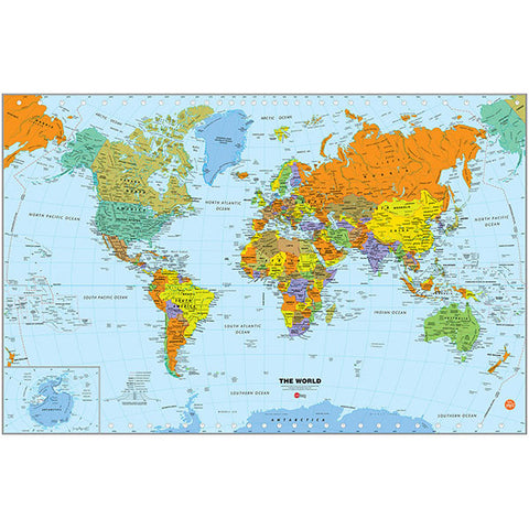 Dry Erase Map (Small) - World