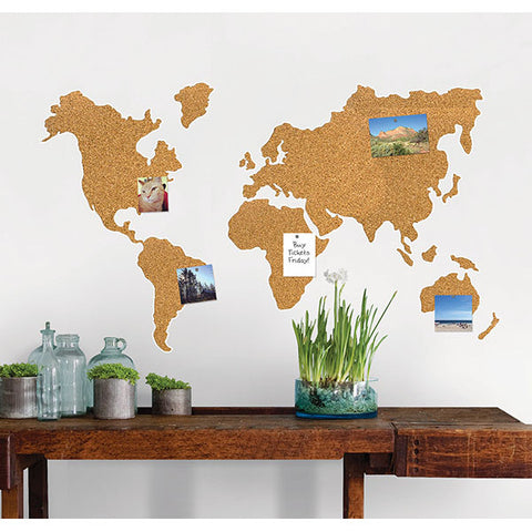 Cork Map Pinboard