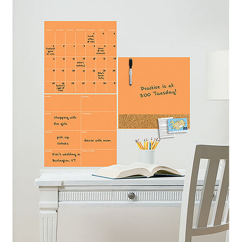 Dry Erase 3 Piece Set - Neon Tangerine Orange