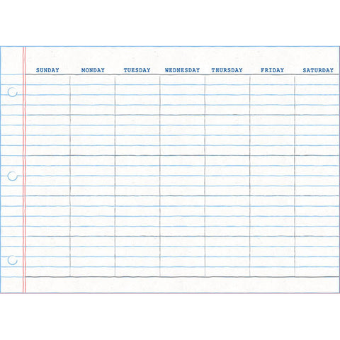 Monthly Calendar - Notepad