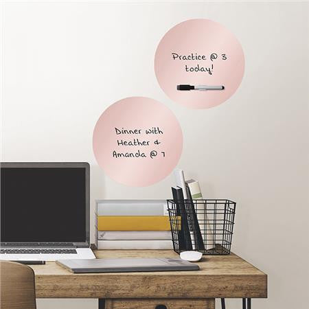 Rose Gold Dry Erase Dots