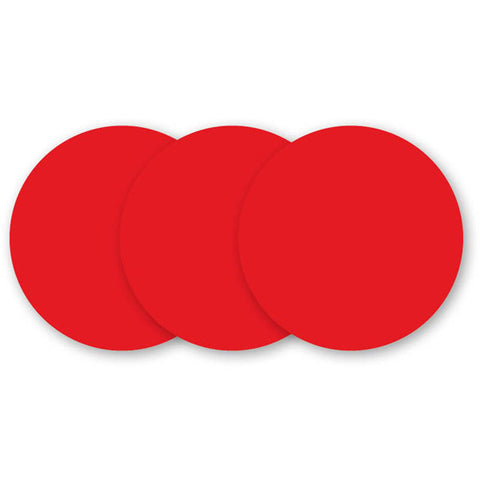 Red Hot Dry-Erase Wall Dot Stickers