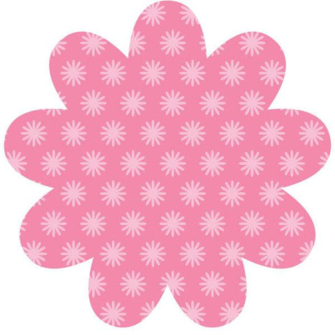 Daisy Pink Dry-Erase Shape Wall Stickers