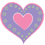 Heart of Hearts - Purple Wall Stickers