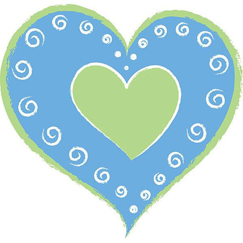 Heart of Hearts - Blue Wall Stickers