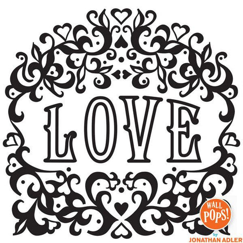 Love Wall Art Sticker Kit - Flock