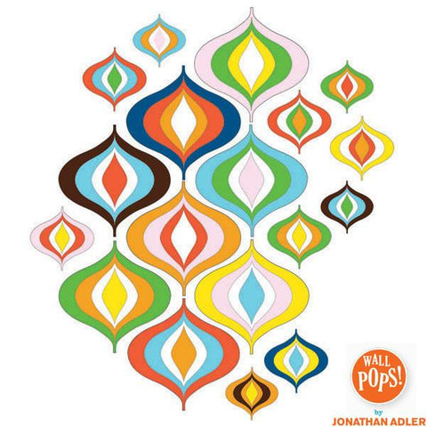 Bargello Wave Wall Art Sticker Kit