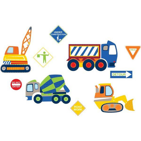 Construction Zone Wall Art Sticker Kit