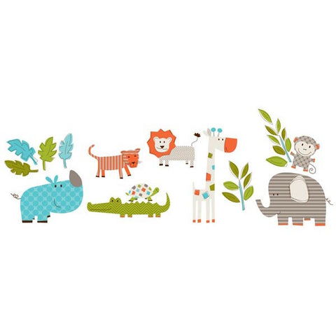 Lets Go On Safari Wall Art Sticker Kit