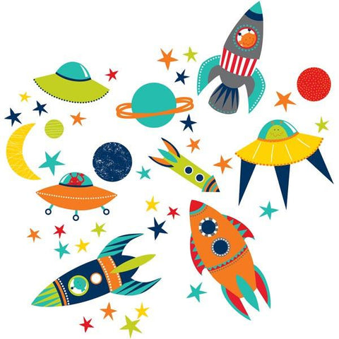 Blast Off Wall Art Sticker Kit