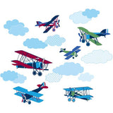Mighty Vintage Planes Wall Art Sticker Kit