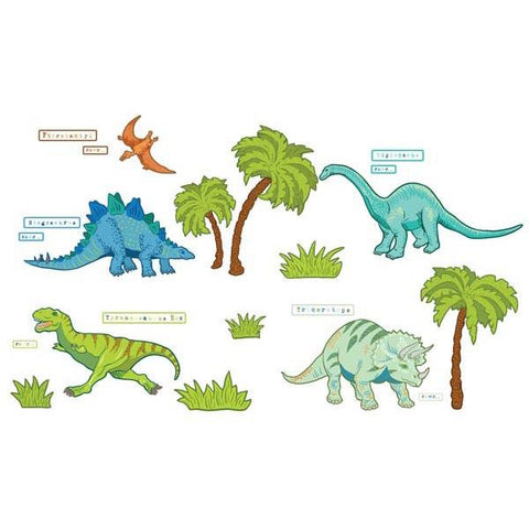Dinosaur Expedition Wall Art Sticker Kit
