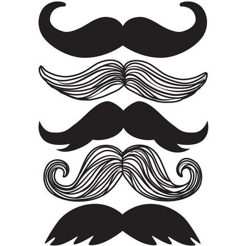 Moustache Wall Art Sticker Kit