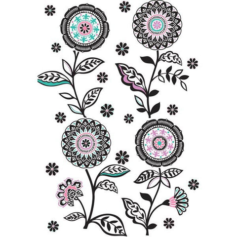 Floral Medley Wall Art Sticker Kit