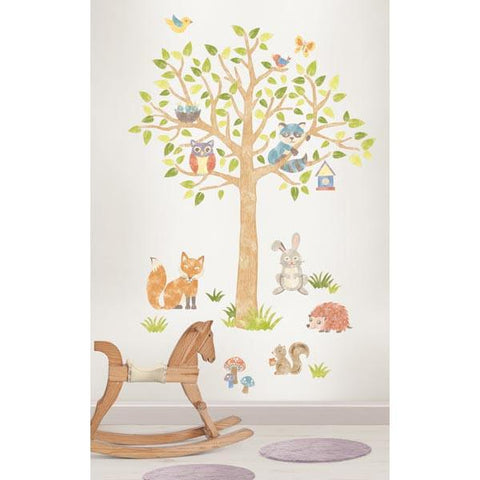Woodland Tree Wall Art Sticker Kit
