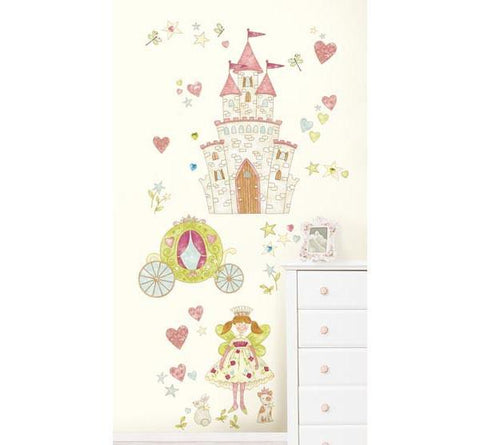 Princess Fairyland Wall Art Sticker Kit