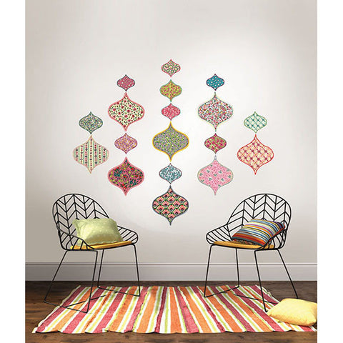 Boho Chic Ogee Large Wall Art Kit