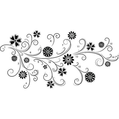 Floral Silhouette Wall Art Kit