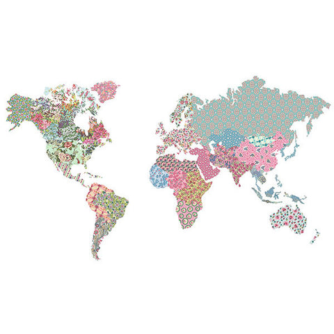 World Map - Boho