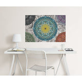 Shangri La Mandala Colouring Wall Decal
