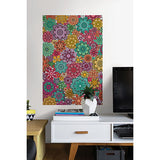 Marigold Floral Colouring Wall Decal