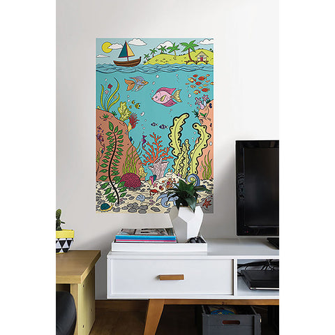 The Reef Colouring Wall Decal