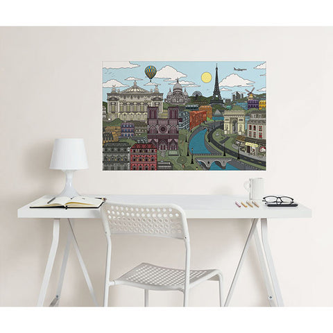 Visite Paris Colouring Wall Decal