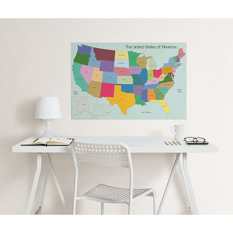 USA Map Colouring Wall Decal
