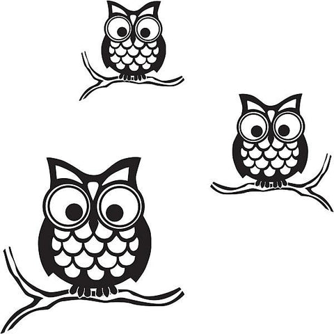 Give a Hoot Wall Art Sticker Kit