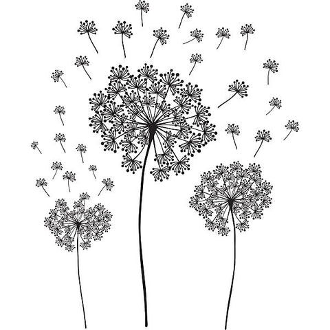 Dandelion Wall Art Sticker Kit