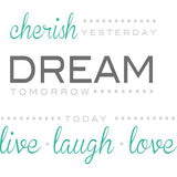 Cherish Dream Live Wall Art Quotes