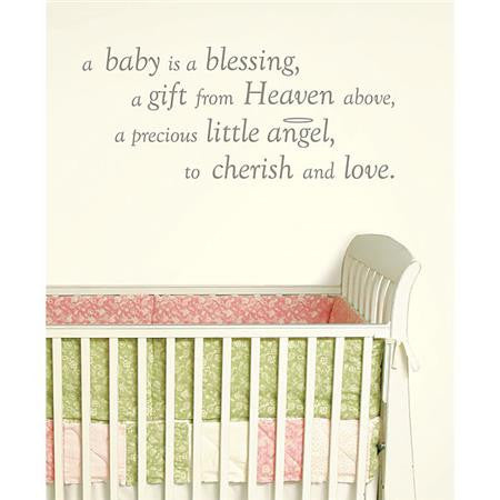 Baby is a Blessing - Wall Wishes