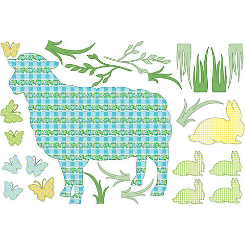 Betty the Lamb Wall Art Sticker Kit