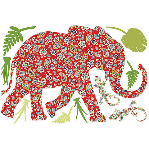 Mabuza the Elephant Wall Art Sticker Kit