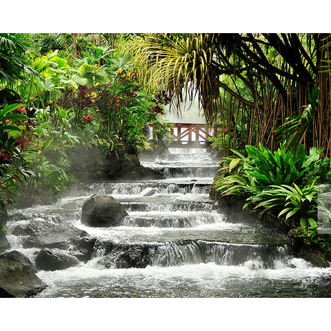 Tranquil Waterfall Wall Mural