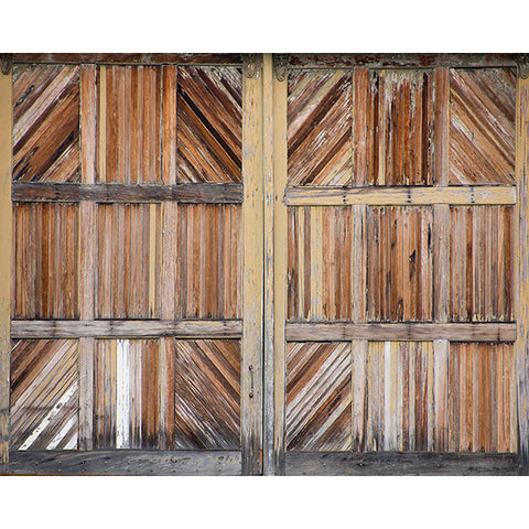 Wooden Doors Wall Mural