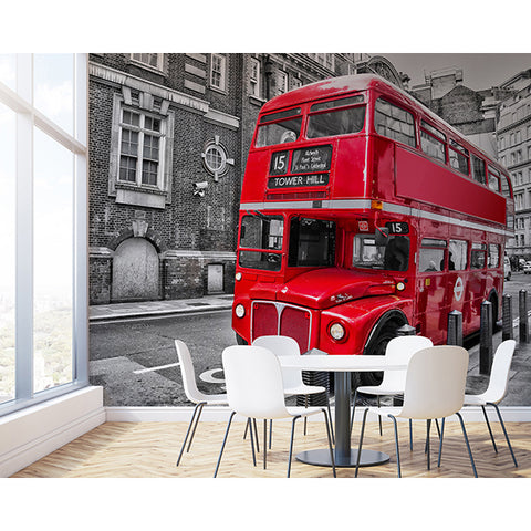 London Bus Wall Mural
