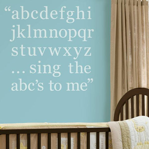 Baby Blue Alphabet Set