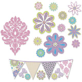 Patchwork Daisy Wall Stickers